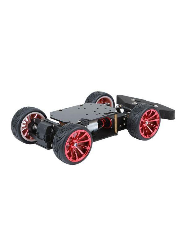 ibasenice DIY Robot Smart Car Chassis Kit 4 Wheel 2 Layer Robot Smart Car Chassis Kits with Speed Encoder for Arduino DIY